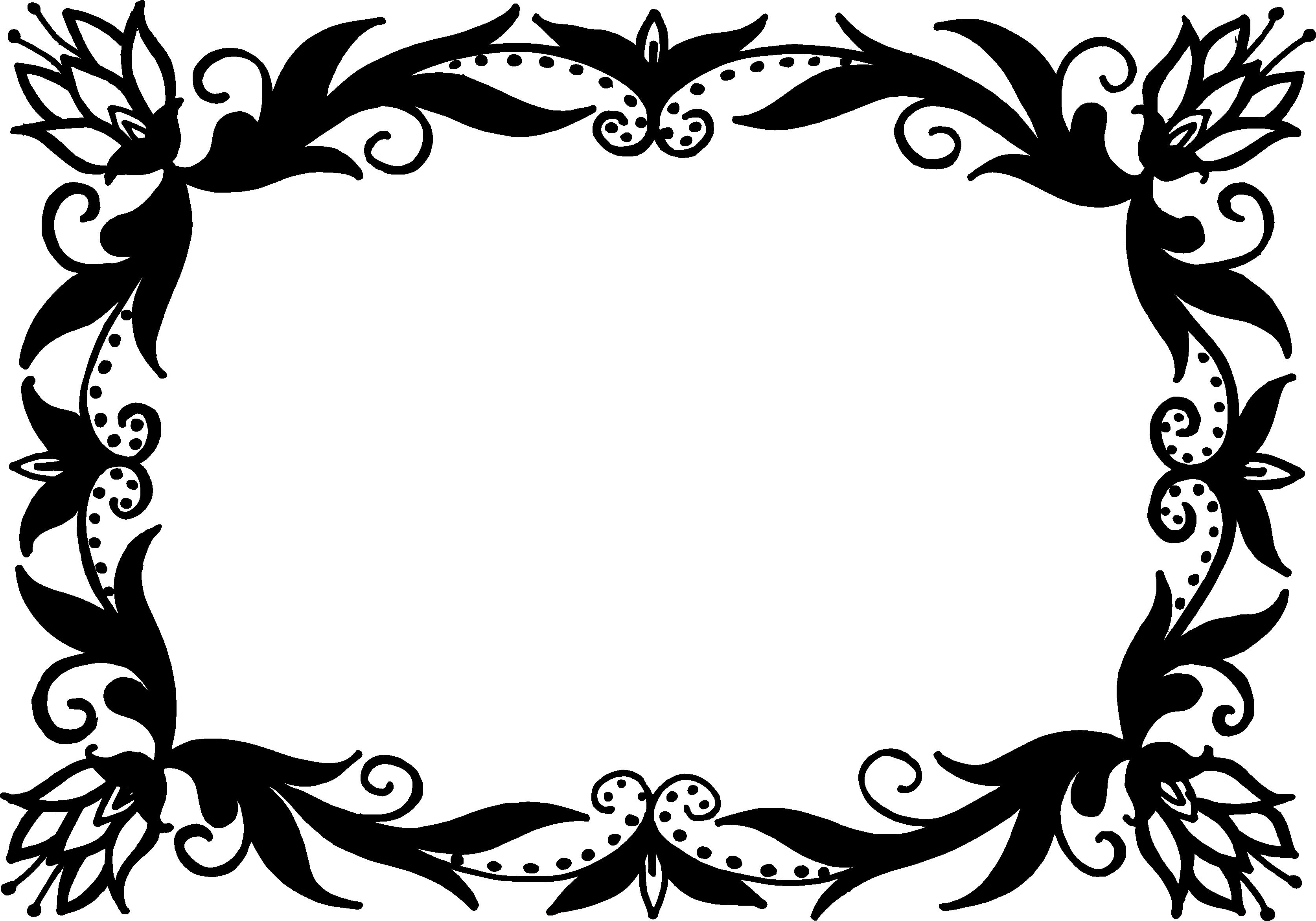 Free Download Png And Vector: 9 Rectangle Flower Frame Vector (PNG Transparent, SVG) Vol