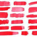 18 Red Watercolor Brush Stroke (PNG Transparent) Vol.3