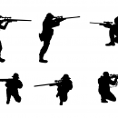 6 Sniper Shooter Silhouette (PNG Transparent)