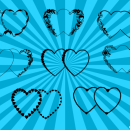8 Two Hearts Vector (PNG Transparent, SVG)