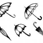 5 Umbrella Drawing (PNG Transparent)
