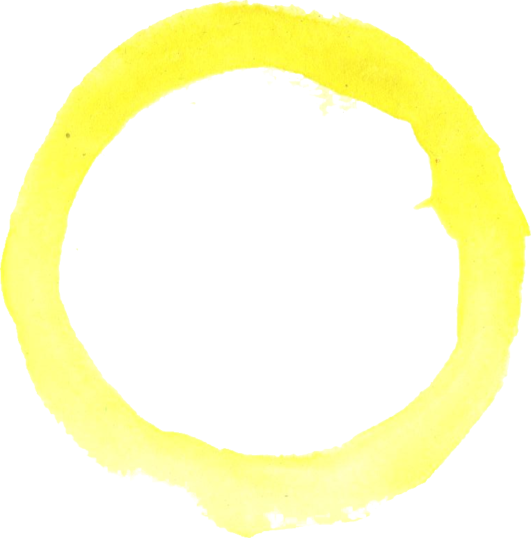4 Yellow Watercolor Circle (PNG Transparent)   OnlyGFX com