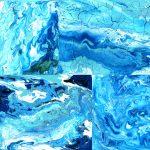 4 Abstract Blue Paint Texture (JPG)
