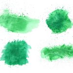 4 Green Watercolor Background (JPG)