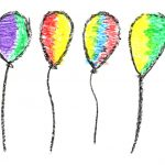 6 Crayon Balloon Drawing (PNG Transparent)