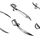 6 Sword Drawing (PNG Transparent)