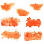 7 Orange Watercolor Background (JPG)