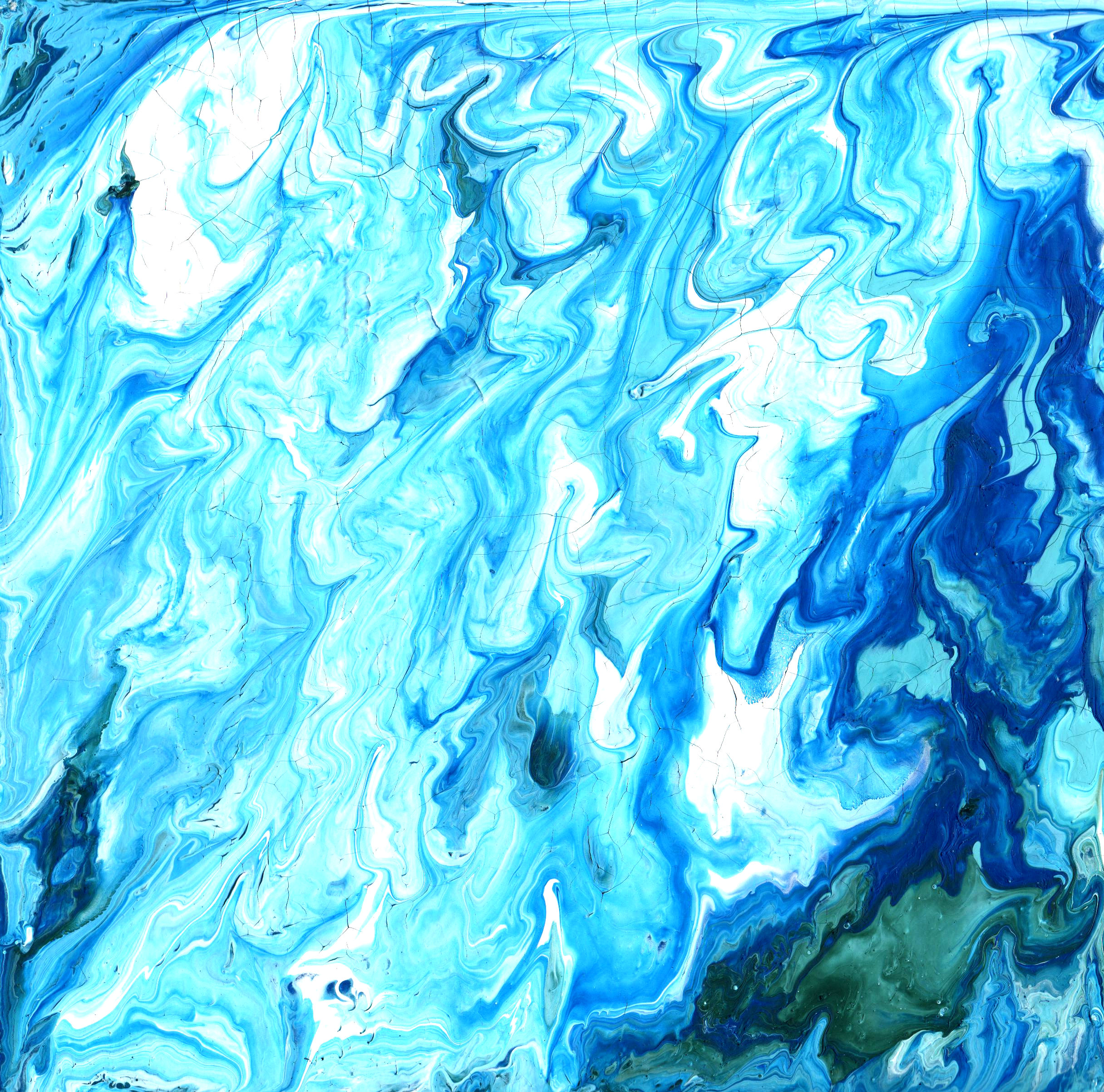 Free Download (abstract Blue Paint Texture 2)