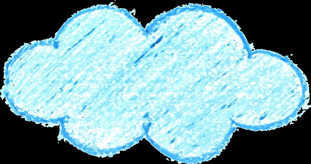 6 Crayon Cloud Drawing (PNG Transparent) | OnlyGFX com