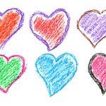 6 Crayon Heart Drawing (PNG Transparent)