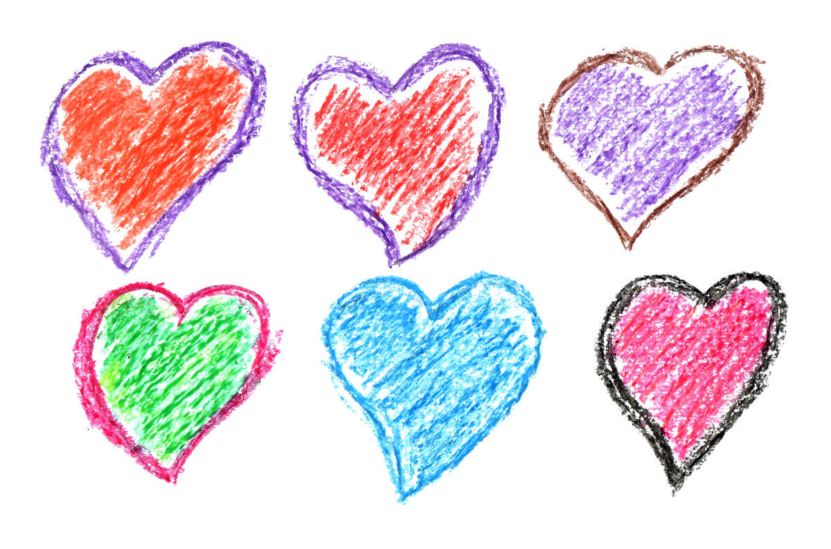 6 Crayon Heart Drawing (PNG Transparent) | OnlyGFX com