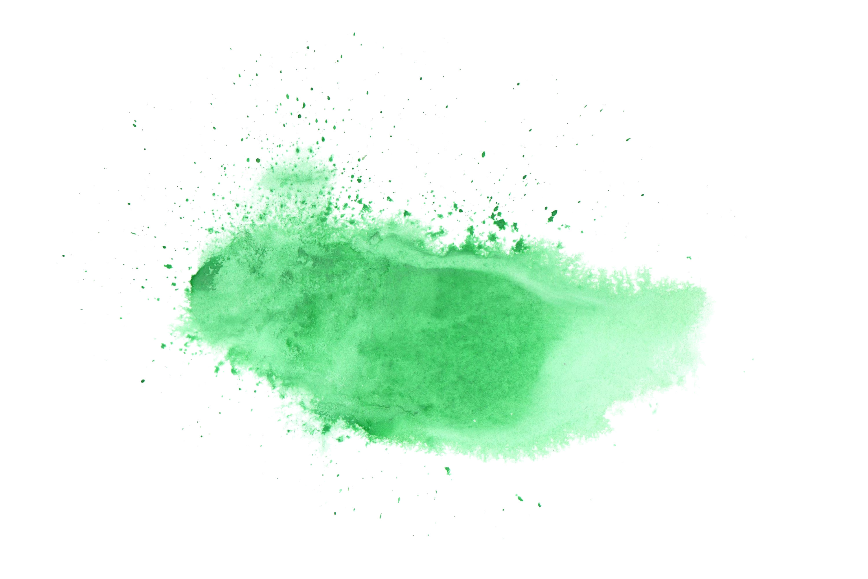 Green Paint Background Watercolor