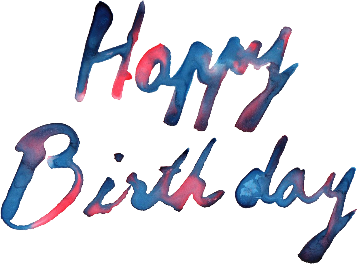 5 Happy Birthday Watercolor Png Transparent Onlygfx Com