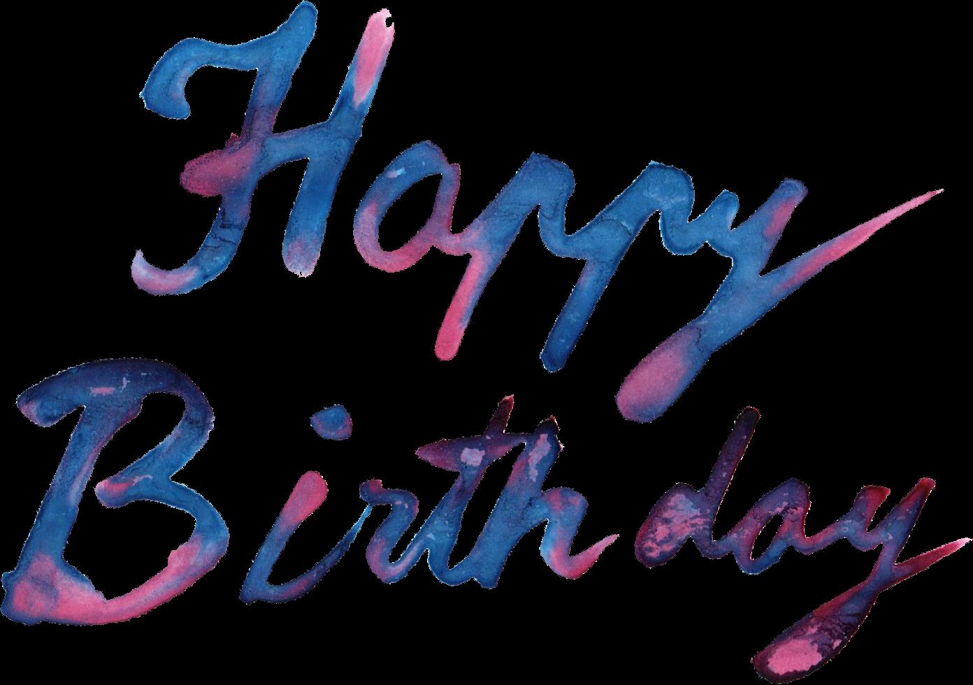 Happy birthday transparent