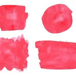 4 Red Watercolor Background (PNG Transparent)