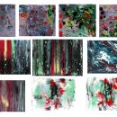 10 Abstract Acrylic Paint Texture (JPG)