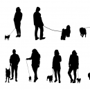 10 Dog Walking Silhouette (PNG Transparent)
