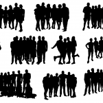10 Group Photo Silhouette (PNG Transparent)