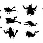 10 Scuba Diver Silhouette (PNG Transparent)