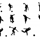 12 Bowling Silhouette (PNG Transparent)