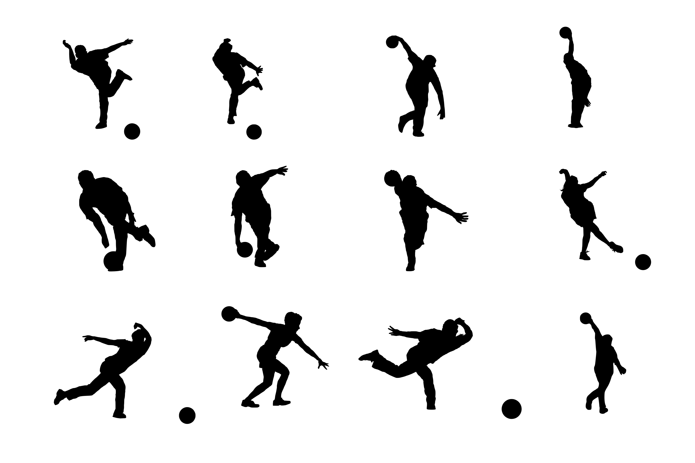 12 bowling silhouette png transparent onlygfx com