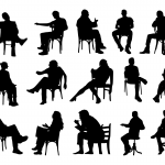 15 Sitting in Chair Silhouette (PNG Transparent)