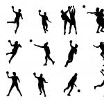 15 Handball Silhouette (PNG Transparent)