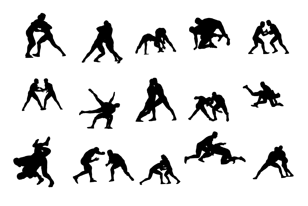 15 Wrestling Silhouette Png Transparent Onlygfx Com