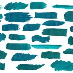 28 Turquoise Paint Brush Stroke (PNG Transparent)