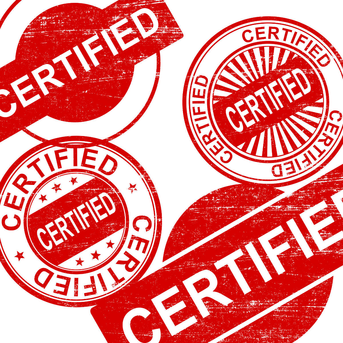 4 Certified Stamp PNG Transparent