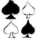 4 Grunge Spade Symbol (PNG Transparent)
