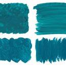 4 Turquoise Paint Texture (JPG)
