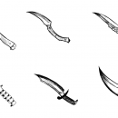 6 Knife Drawing (PNG Transparent)