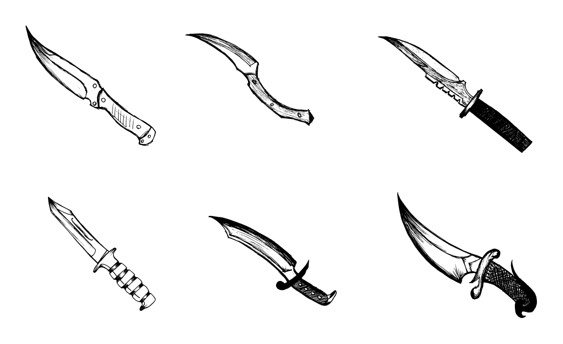 It's just an image of Comprehensive Drawing Of Knife