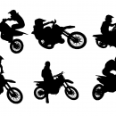 6 Motocross Silhouette (PNG Transparent)