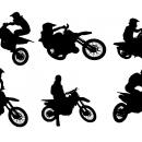 6 Motocross Silhouette (PNG Transparent)