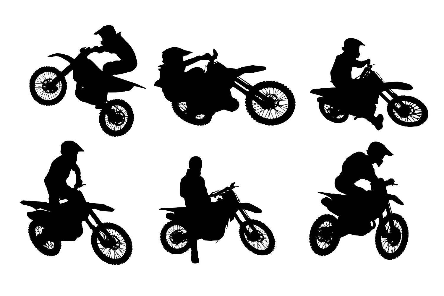 6 motocross silhouette png transparent onlygfxcom