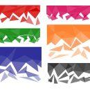 6 Polygonal Background Fade (PNG Transparent)