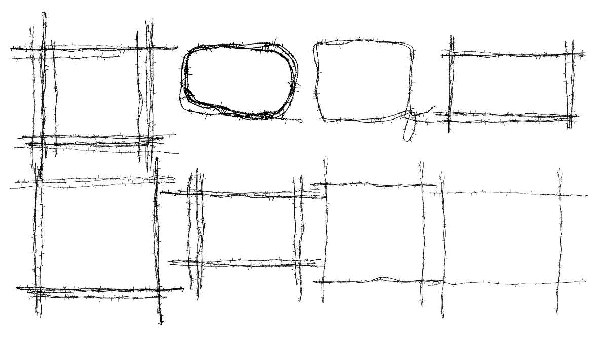8 Barbed Wire Frame (PNG Transparent) | OnlyGFX.com