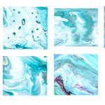 8 Turquoise Marbling Texture (JPG)