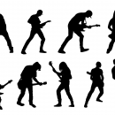 9 Electric Guitar Player Silhouette (PNG Transparent)