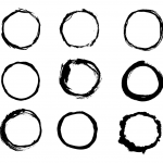 9 Grunge Circle (PNG Transparent)