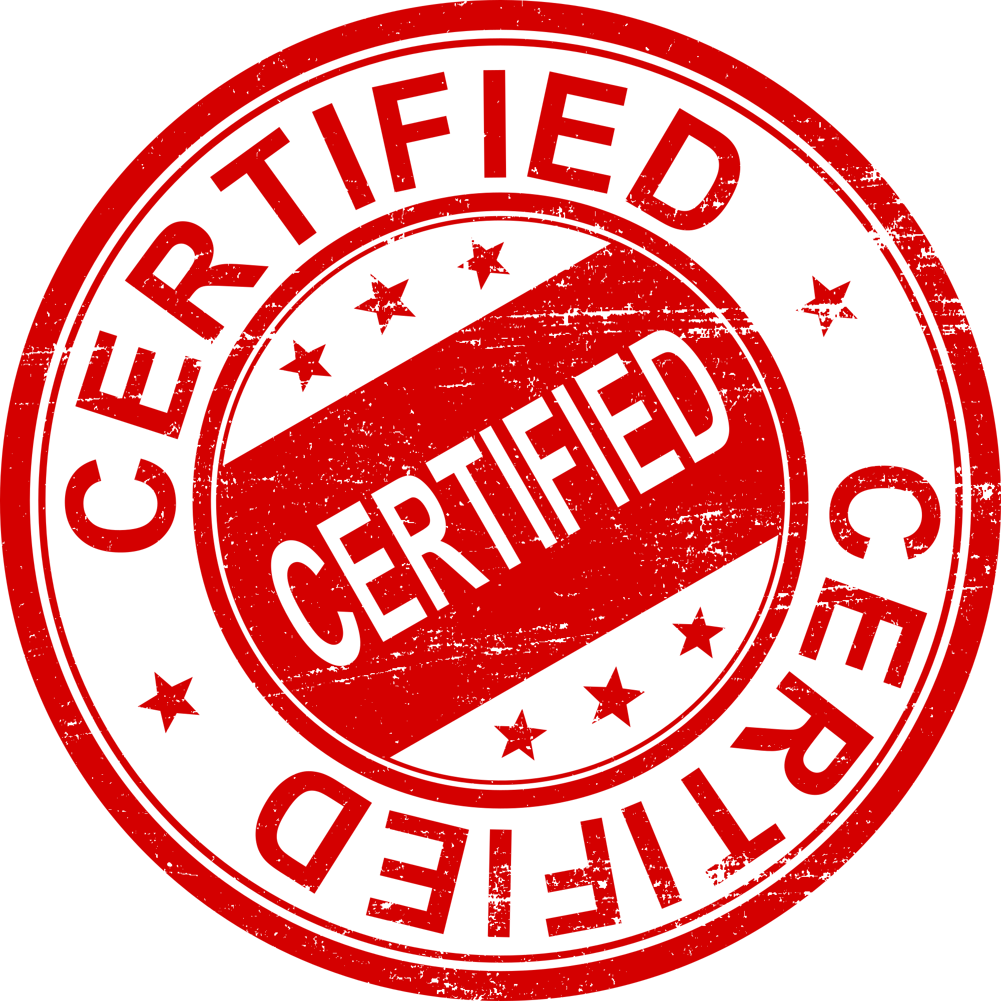 4 certified stamp  png transparent