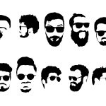 10 Hipster with Sunglasses Silhouette (PNG Transparent) Vol.2