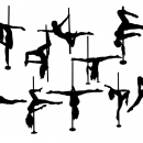 10 Pole Dancer Silhouette (PNG Transparent)