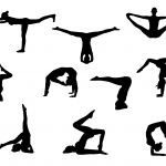 10 Yoga Silhouette (PNG Transparent)