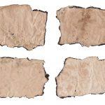 4 Burnt Wrinkled Old Paper Texture (JPG)