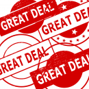 4 Great Deal Stamp (PNG Transparent)