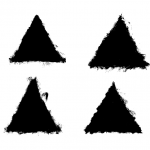 4 Grunge Triangle (PNG Transparent)