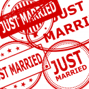 4 Just Married Stamp (PNG Transparent)